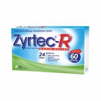 ZYRTEC 24h Rapid Relief Tablets 10's