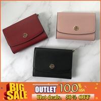 Tory Burch clips flip wallet wallet purse card holder clutch bag wallet tri-fold
