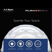AC Ryan Playon!Sparkle - FM/BT portable speaker w/LED disco lights.