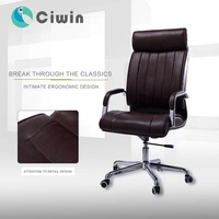 Leather chair High-Back Executive Chair Swivel Ergonomic Home Computer To Work In An Office Chair