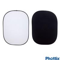 Phottix 150*200公分可折疊黑白背景板-86545