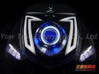 三重賣場  新勁戰 GMS M3 三代 認證 合法 魚眼 大燈 日行燈 LED DRL 光圈 (非 小嘉工作室 A3 )