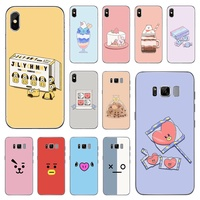 BTS BT21 Cartoon Emoji Dolls  iphone Universal TPU Phone Case For Apple iPhone 8 7 6 6S Plus X XS MAX XR 5S SE and Samsung   S6 Edge S7 Edge S8 Plus S9 Plus Note 8 Note 9 Mobile phone model