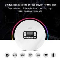 Sweatbuy LCD Portable AUX CD Player + Headphone for MP3/CD/CD-R/CD-RW Disk White EU Plug
