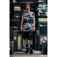 現貨 [NMR] OVKLAB 背心 滿板硬刷 設計師款 黑 White Riot Pattern Sleeveless