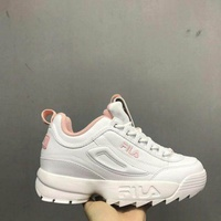 Real FILA_Disruptor II 2 pink Thick Bottom Shoes size 36-42 Ready Stock Fashion Shoes