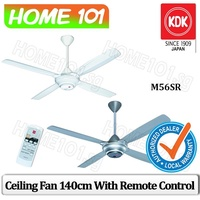 "KDK M56SR Ceiling Fan 140CM With Remote Control *with 9"" rod length*"