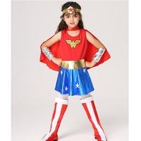 快樂商店/萬聖節服裝/超人服裝/女超人/兒童變裝-神力女超人服裝