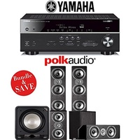 (Polk Audio) Polk Audio TSi 500 5.1-Ch Home Theater Speaker System with Yamaha RX-V683BL 7.2-Ch N...