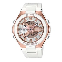 Casio Baby-G G-MS Lineup White Resin Band Watch MSG400G-7A MSG-400G-7A