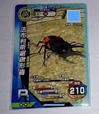 新甲蟲王者 第3彈  法布利斯鋸鍬形蟲 M-G3-07T   甲蟲卡  2星R卡