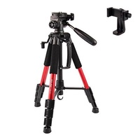 Camera Tripod-POLAM-FOTO 55/140cm Tripod with Phone Holder, Compact tripod with Carry Bag-Red - intl