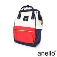 【日本正版anello】經典口金後背包《法國色 F》M尺寸