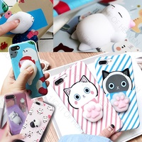 Creative Decompression 3D Squishy Case for iPhone 7 plus samsung Galaxy S8 OPPO R11 R9S Plus case