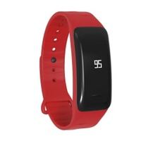 Bluetooth Smart Bracelet C1 Wrist Band With Heart Rate BloodPressureTest IP67 Waterproof Sleep Monitor for Androind Ios(Red) - intl