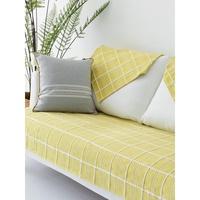 北欧全棉沙發墊沙發巾簡約現代透氣布藝貴妃椅墊萬能定制四季墊沙發套