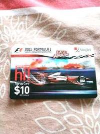 Limited Edition 2011 F1 singtel Singapore Grand Prix hi card top up card #MRTBishan