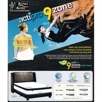 King Koil 9 Zone Acti-Pro 13 inch Pocketed Coil Spring Mattress