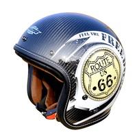 M2R XF-1 XF1 彩繪 #1 白 碳纖維 復古帽 半罩 安全帽 66公路 美式機車 復古 偉士牌《裕翔》