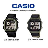 CASIO卡西歐世界地圖顯示時間地點AE-1200WH AE-1200WHB-1B AE-1200WHB-3B 帆布錶帶