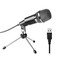 FIFINE USB Microphone, Plug and Play Home Studio USB Condenser Microphone for Skype, Recordings for