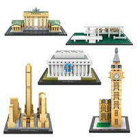 LOZ Architecture Series Elizabeth Tower Rockefeller Center Lincoln Memorial Farnsworth House Mini Diamond Lepins Block