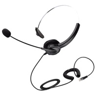Miracle Shining Hands-free Call Center Noise Cancelling RJ9 Headset Headphone for Office
