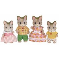 Sylvanian Families Striped Cat Family #5180