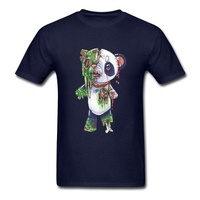 Horror Zombie Panda Ghoul T-Shirt Devil May Cry Bearcat Awesome Tshirts Ostern The Walking Dead Funny T Shirt Anime Print 3D Men dark blue