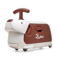 Bontoy Traveller 紅點設計美學騎乘行李箱-咖啡色米格魯