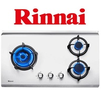 RINNAI RB-73TS 3 BURNER HYPER FLAME STAINLESS STEEL BUILT-IN HOB