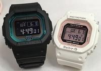 支持戀人們的G打擊一對表G-SHOCK BABY-G一對手錶卡西歐電波太陽能速度型號2瓶一套g打擊嬰兒g GW-B5600-2JF BGD-5000-7DJF成套的受歡迎的包免費愛的證g-shock的聖誕禮物 Jewelry time Murata of watch