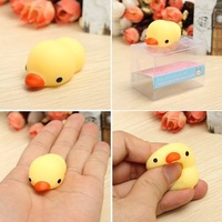 Yellow Duckling Duck Squishy Squeeze Cute Healing Toy Kawaii Collection Stress Reliever Gift