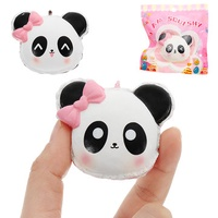 I Am Squishy Panda Face Head Squishy 14.5cm Slow Rising With Packaging Collection Gift Soft Toy