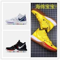 NBA Kyrie Irving  歐文 厄文籃球鞋歐文5籃球鞋海綿寶寶奶油涂鴉