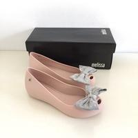 《現貨》Melissa 香香鞋 巴西尺寸36(Mel 雙色大蝴蝶結 魚口鞋/娃娃鞋-粉膚色)