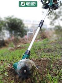 藤原松土機小型菜地家用微耕機翻土機農用工具耕地機輕便電動鋤頭