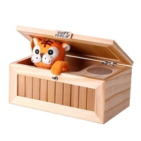 OrzBuy Funny Tiger Don't Touch Useless Box With Surprises Sound Most Leave Me Alone Machine, Musical Box Gag Practical Joke Toys For Kid Birthday Christmas Gift (Tiger) - intl