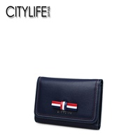 CITYLIFE Citylife Women's Wallet New Style Korean Style Short Leather Wallet Large Wallet Fashion