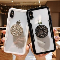 Oppo R11/R11S/R11 Plus/R11S Plus Luxury Fashion Diamond Air Stand Holder Phone Case   25049