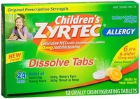 ▶$1 Shop Coupon◀  Children s Zyrtec 24 hour Allergy Relief 10mg -12 Dissolve Tablets, Pack of 4