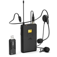 Wireless Microphones for Computer,FIFINE USB Wireless Microphone System for PC  Mac,Headset UHF Wire