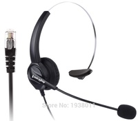 Comfortable Landline Wired Telephone Headset RJ9 Connector RJ9/RJ10 plug for Nortel, Aastra, Intel,Shore, Norstar etc