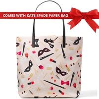Kate Spade Hop To It Bon Shopper Tote Shoulder Bag Handbag Steal The Scene Nude Beige # WKRU4754