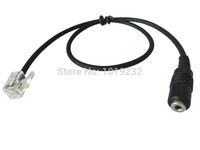 VoiceJoy 2.5MM Headset Adapter cable 2.5mm jack to RJ9 connector for telephone headset RJ9 plug to 2.5mm adapter
