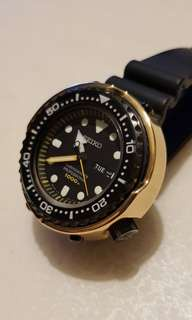 Seiko Darth Tuna SBBN027 plus 2 OEM bezel Yellow & Black with OEM Zirconia ceramic shroud and after market brass shroud.