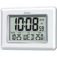 Seiko QHL058W Digital LCD Wall and Desk Clock