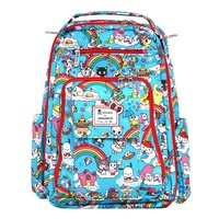Jujube ∣ Ju-Ju-Be Be Right Back (BRB) backpack diaper bag, Tokidoki collection - RAINBOW DREAMS