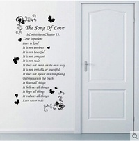 Christian wall stickers creative stickers English romantic poetry Restaurant bedroom wall decoration