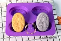 心動小羊^^採花天使4連、4孔皂模矽膠模巧克力模具 蛋糕模 手工皂 矽膠模具 製冰盒 果凍盒 皂模